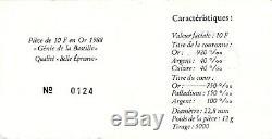 France Ve République 10 Francs or Génie 1988 PCGS PR 68 DCAM KM# 964.1a