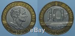 Francia 10 Franchi 1989 Montesquieu Fdc Rr