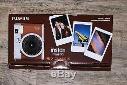 Fujifilm Instax Mini 90 Neo Classic Camera Instant Film Camera Brown NEW IN BOX