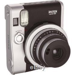 Fujifilm Instax Mini 90 Neo Classic Instant Film Camera (Black) Brand New