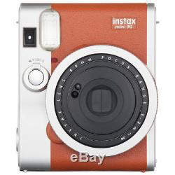 Fujifilm Instax Mini 90 Neo Classic Instant Film Camera Brown NEW