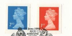 GB 1998 Walsall Dagger Perf 14 x 13.5 error SG2039b & 2040b Windsor FDC stamps