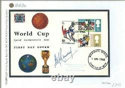 GB First Day Cover WORLD CUP ILLUSTRATED Wembley Signed Alf Ramsey 1966 943e