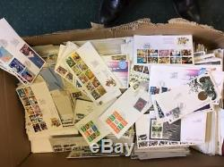 GB Job lot 1000 First Day covers 1971 2008 perfect for used sets stamps