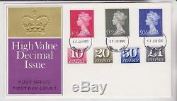 GB Stamps First Day Cover 1970 High Values & Postage Dues On Same Outstanding