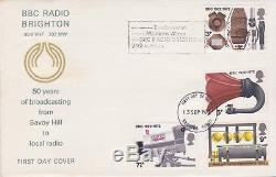 GB Stamps First Day Cover 1972 Bbc Radio Brighton Slogan Unaddressed Outstanding