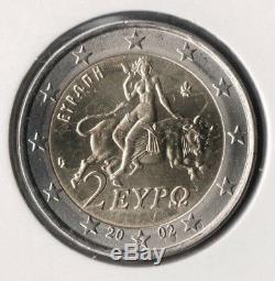 GRECE Monnaie 2 euro 2002 S étoile QUALITÉ FDC / Finlande FAUTEE & UNIQUE
