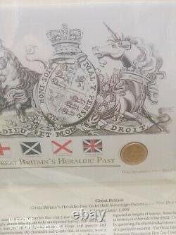 Gold Half Sovereign Presentation First Day Cover Great Britain's Heraldic Past