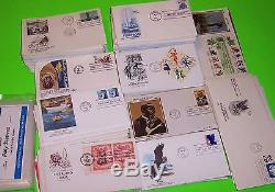 Great Lot 440+ First Day Covers, Many Cachets Colorano, Artcraft, Farnam, & More