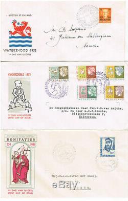 Große FDC-Sammlung Niederlande in 4 Briefealben aus E12 bis E395