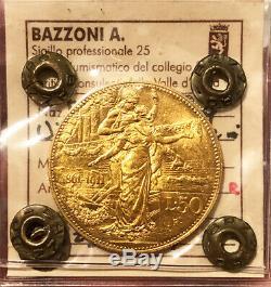 HN Italia REGNO D'ITALIA Vittorio Emanuele III 1911 Lire 50 AU SPL/FDC R sp447