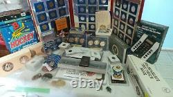 HUGE 21 lb. JUNK DRAWER Lot SILVER Coins SPORTS Cards FDC. CASINO Chips
