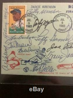 Hall of Fame Multi-Signed First Day Cover (15 Signatures) Pre Cert PSA