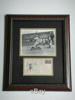 Honus Wagner Signed 1939 Fdc Psa/dna Certified Authentic Autograph Hof Framed