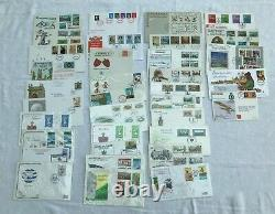 Huge Job Lot x 285 First Day Covers GB QEII Stamps 3.5kg 1969-1988 FDC611
