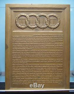 I° Guerra Mondiale Placchetta Uniface 1918 Fdc