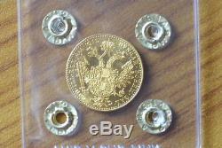 IMPERO AUSTRIACO FRANCESCO GIUSEPPE 1 DUCATO 1915 3,49 gr ORO 986 FDC SUBALPINA