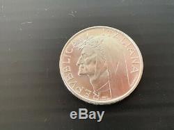 ITALIA Repubblica Da rotolino lotto di 15 x 500 lire in argento FDC 1965 DANTE