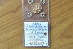Impero Austriaco Franc Giuseppe 4 Fiorini 1892 Mezzo Marengo Oro Fdc Subalpina