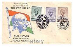 India 1948 Gandhi 3 Value Private Fdc