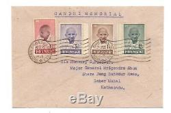 India 1948 Gandhi First Day Cover Indian Embassy Nepal Cds