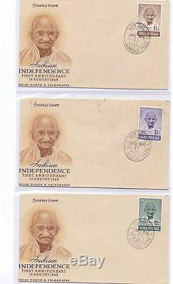 India 1948 Gandhi First Day Cover With New Delhi Cancellation, Rpsl Cert