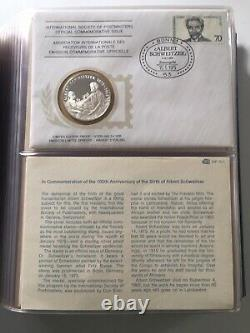 International Society of Postmasters (1975-80) Sterliang Silver Medallion Covers