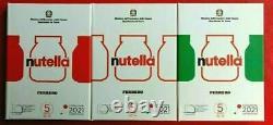 Italia 2021 5,00 Argento 925 Eccellenze Nutella Verde Rossa Bianca Fdc