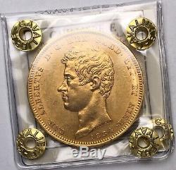 Italia / Italy Carlo Alberto 100 Lire 1834 Torino SPL-FDC Cavaliere