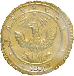 Italia / Italy Palermo Carlo III d'Asburgo Oncia 1734 -FDC ECCEZ. Cavaliere