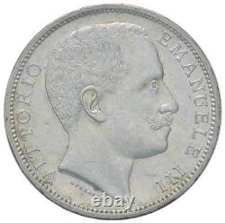 Italia / Italy Vittorio Emanuele III 2 Lire 1902 R FDC perizia Cavaliere