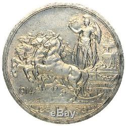 Italia / Italy Vittorio Emanuele III 5 Lire 1914 RR FDC