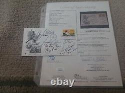 JSA COA 8X HOF KOUFAX BERRA ETC SIGNED 1969 Baseball FDC Postal Baseball Cover