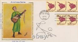 JSA & PSA/DNA slabbed DAVID BOWIE 80' signed FIRST DAY COVER autographed