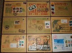 James Cauty All 24 First Day Covers (FDC's) 2004 to 2009 SUPER RARE (L-13)