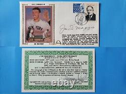 Joe DiMaggio Autograph Signed Gateway Cachet FDC Envelope First Day Cover with COA