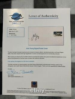 John Young Signed Autograph Fdc Nasa Gemini Apollo Shuttle Moon Zarelli Loa
