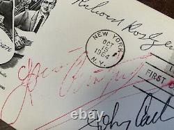 Johnny Cash Louis Armstrong Richard Rodgers Signed Autograph First Day Cover