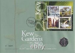 KEW GARDENS MINT PERFECT 50p COIN WITHIN 2009 KEW MINI SHEET FIRST DAY COVER