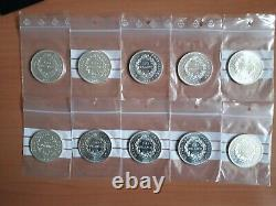 Lot 10 pièces argent 50 francs Hercule SPL/FDC