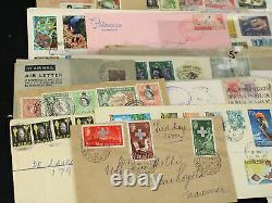 Lot 430+ GB British Colonies Covers Hong Kong, Kenya, Ceylon+ Registered, Airmail+