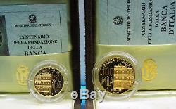 Lotto 2 Monete Oro, Gold Italia 100.000 E 50.000 Lire 1994, Peso 22,5 Gr. Fdc/proof