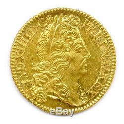 Louis XIV Double Louis d'or à L'écu 1690 Paris Flan Neuf Fleur de Coin