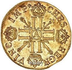 Louis XIV Double Louis d'or aux 8 L et aux insignes 1701 Paris fn FDC