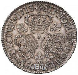 Louis XIV Ecu aux trois couronnes 1713 Paris PCGS MS62 Superbe à FDC