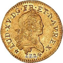 Louis XV Louis d'or mirliton 1724 H La Rochelle état exceptionnel FDC