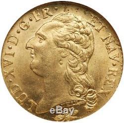 Louis XVI Louis d'or 1786 Lyon Etat exceptionnel FDC+++ Haut grade NGC MS65