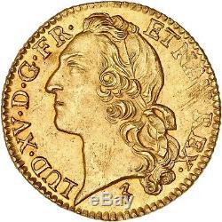 Louis d'or au bandeau 1749 W Lille de toute beauté FDC à l'état de frappe éclat