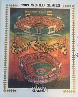 MARK McGWIRE JOSE CANSECO 1989 World Series Game 1 Signed First Day Cover PSA