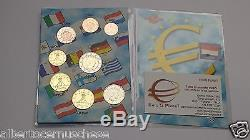 MONACO 8 monete 3,88 EURO Alberto II fdc 2012 2013 2014 mix years annate miste
